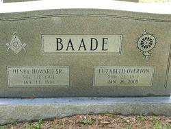 Orrie Elizabeth <I>Overton</I> Baade
