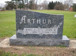 Mary Emma <I>Fisher</I> Arthur