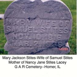 Mary <I>Jackson</I> Stites