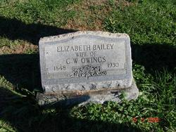 Elizabeth <I>Bailey</I> Owings