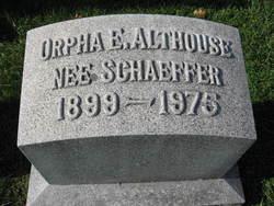 Orpha Elizabeth <I>Schaeffer</I> Althouse