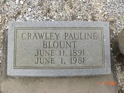 Crawley Pauline <I>Sauls</I> Blount
