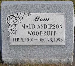 Maud <I>Anderson</I> Woodruff