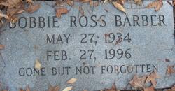Bobbie <I>Ross</I> Barber