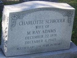 Charlotte <I>Schroder</I> Adams