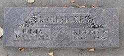 Emma Hardy <I>Warsencr</I> Groesbeck