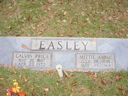 Mittie Anna <I>Bennett</I> Easley
