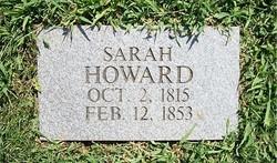 Sarah <I>Robertson</I> Howard