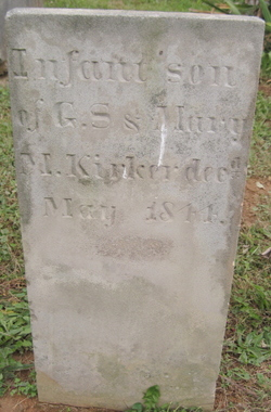 Infant son of G S & Mary M Kirker