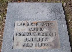 Leila E <I>Johnston</I> Garrett
