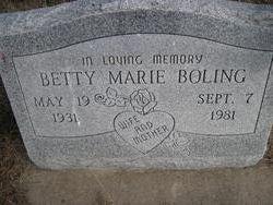 Betty Marie <I>Hensley</I> Boling