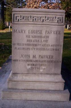 Mary Louise <I>Schoonmaker</I> Parker