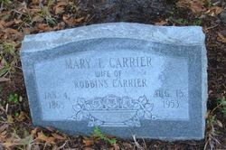 Mary Frances <I>Bagby</I> Carrier