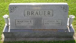 Martha Bertha <I>Hartmann</I> Brauer