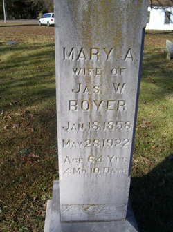 Mary A <I>Mickle</I> Boyer
