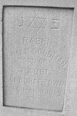 Rabbi Hyman Goodman Bursetown