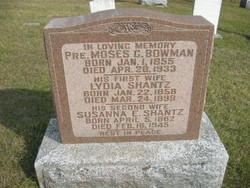 Susanna E. <I>Shantz</I> Bowman