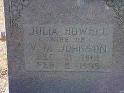 Julia <I>Howell</I> Johnson