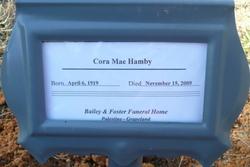 Cora Mae <I>Lawson</I> Hamby