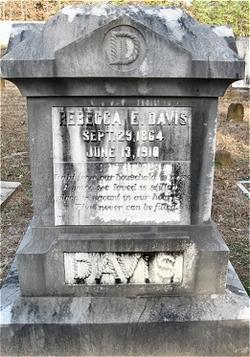 Rebecca Elizabeth <I>Deaton</I> Davis