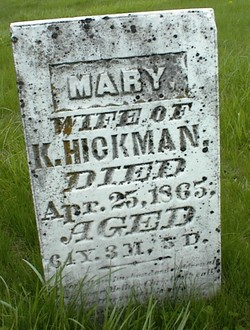 Mary <I>Hooper</I> Hickman