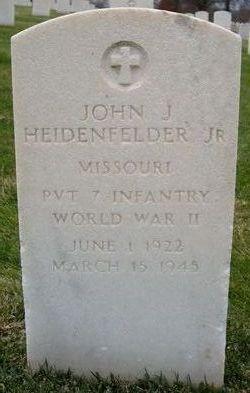 PVT John J Heidenfelder, Jr
