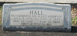 Susan Juliet <I>Anderson</I> Hall