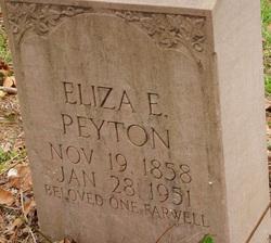 Eliza Elizabeth <I>Peyton</I> Chapman