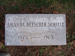Amanda <I>Betscher</I> Schiele