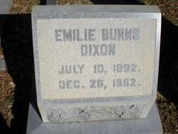 Emilie Julia <I>Burns</I> Dixon