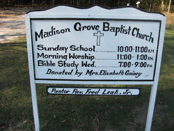 Madison Grove Baptist Church Cemetery