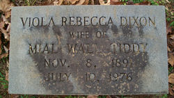 Viola Rebecca <I>Dixon</I> Tiddy