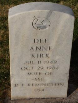 DeeAnne <I>Kirk</I> Remington