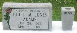 "Ethel M. ""Black"" <I>Jones</I> Adams"