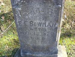 Clara Bell <I>Potts</I> Bowman
