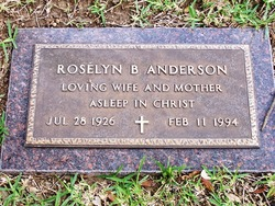 Roselyn Rita <I>Bishop</I> Anderson