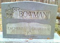 Charlotte <I>Wharton</I> Bowman