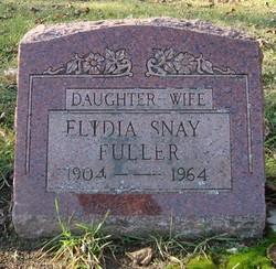 """Elidia Nettie """"Lydia"""" <I>Snay</I> Fuller"""