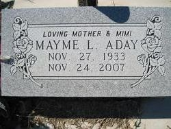 Mayme Louise <I>Waugh</I> Aday