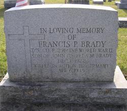 "Sgt Francis P ""Frank"" Brady"