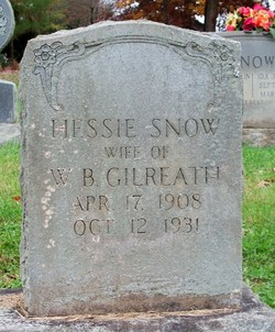 Hessie <I>Snow</I> Gilreath