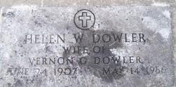 Helen W <I>Maynard</I> Dowler