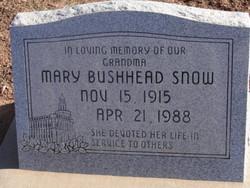 Mary Bushhead Snow