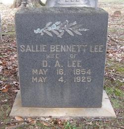 Sallie <I>Bennett</I> Lee