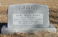 Mary <I>Wolfe</I> Babek