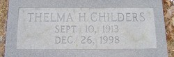 Thelma Gertrude <I>Harmon</I> Childers