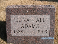 Edna Marie <I>Hall</I> Adams