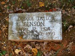 Barbara Louisa <I>Taylor</I> Benson