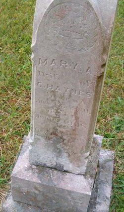 Mary A. <I>Atkins</I> Haynes