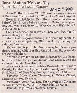 Jane <I>Mullen</I> Hoban